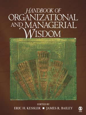 cover image of Handbook of Organizational and Managerial Wisdom