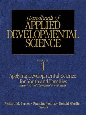 cover image of Handbook of Applied Developmental Science