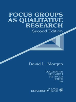 cover image of Focus Groups as Qualitative Research