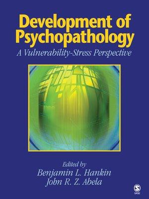 cover image of Development of Psychopathology