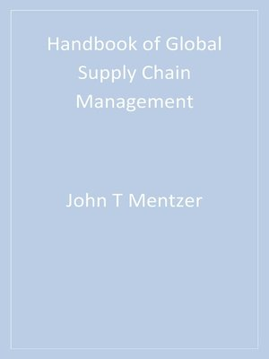 cover image of Handbook of Global Supply Chain Management