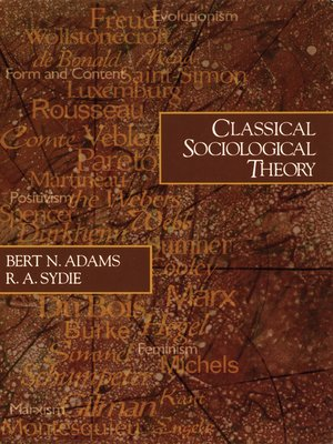 cover image of Classical Sociological Theory