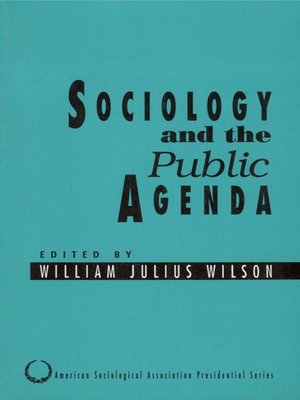 cover image of Sociology and the Public Agenda