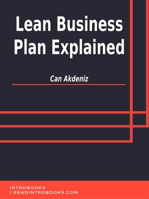 cover image of Lean Business Plan Explained