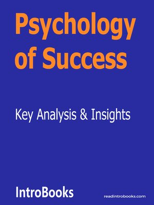 cover image of Psychology of Success