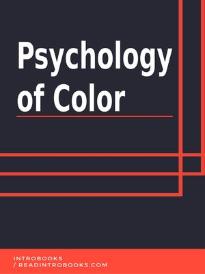 cover image of Psychology of Color