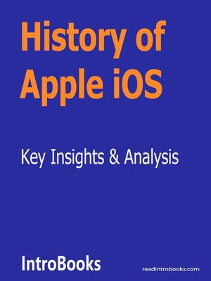 cover image of History of Apple iOS