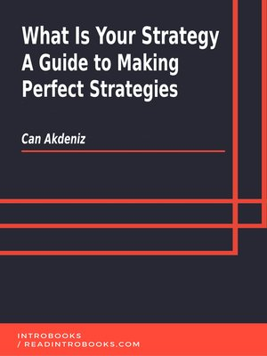 cover image of What Is Your Strategy