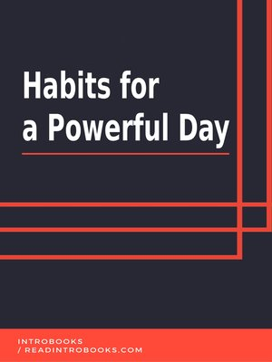 cover image of Habits for a Powerful Day