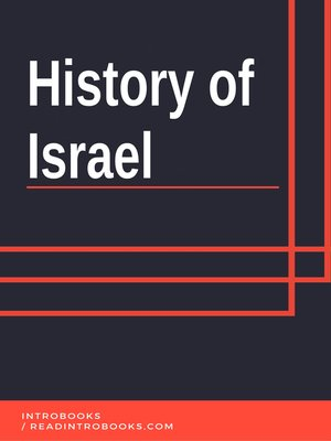 cover image of History of Israel