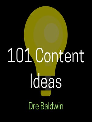 cover image of 101 Content Ideas