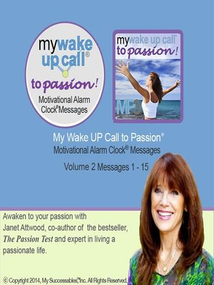 cover image of My Wake UP Call to Passion, Morning Motivating Messages, olume 2