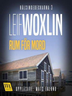 cover image of Rum för mord