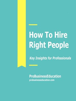 cover image of How to Hire Right People