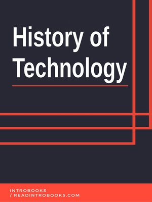 cover image of History of Technology