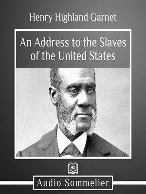 cover image of An Address to the Slaves of the United States