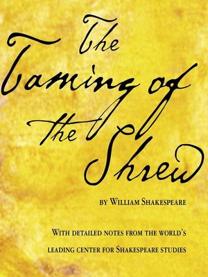 cover image of Taming of the Shrew, The--William Shakespeare
