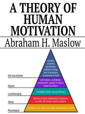 cover image of A Theory of Human Motivation