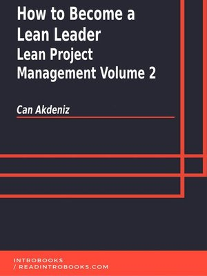 cover image of How to Become a Lean Leader