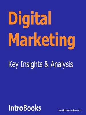 cover image of Digital Marketing
