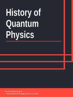 cover image of History of Quantum Physics