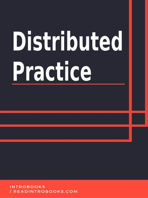 cover image of Distributed Practice
