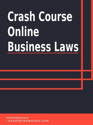 cover image of Crash Course Online Business Laws