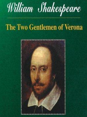 cover image of Shakespeare--Two Gentlemen of Verona