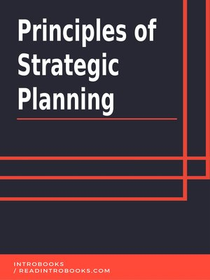 cover image of Principles of Strategic Planning