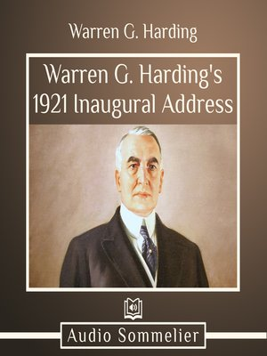cover image of Warren G. Harding's  1921 Inaugural Address