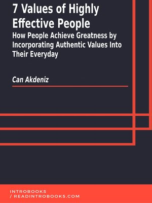 cover image of 7 Values of Highly Effective People