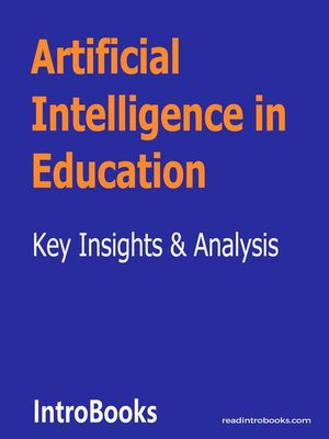 cover image of Artificial Intelligence in Education