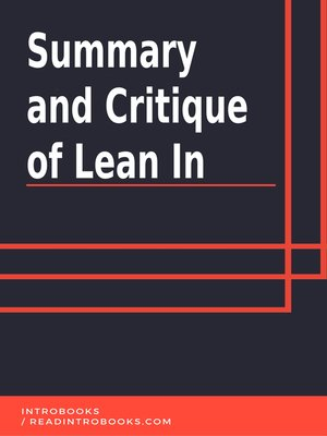 cover image of Summary and Critique of Lean In