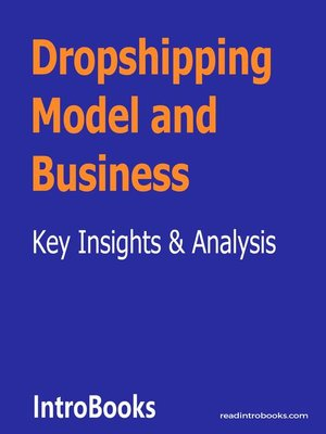 cover image of Dropshipping Model and Business