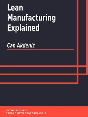 cover image of Lean Manufacturing Explained