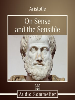 cover image of On Sense and the Sensible