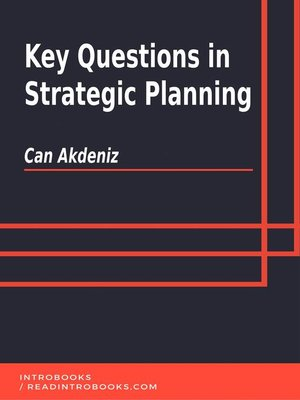 cover image of Key Questions in Strategic Planning
