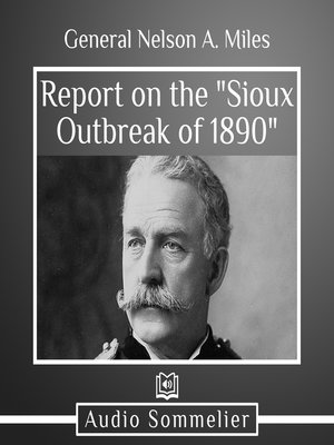 """cover image of Report on the """"Sioux Outbreak of 1890"""""""