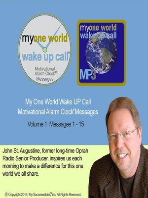 cover image of My One World Wake UP Call, Volume 1