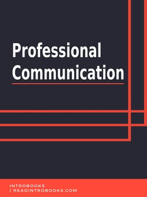 cover image of Professional Communication
