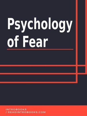 cover image of Psychology of Fear