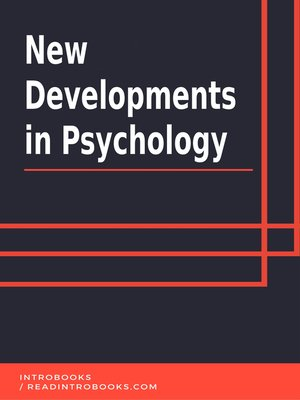 cover image of New Developments in Psychology