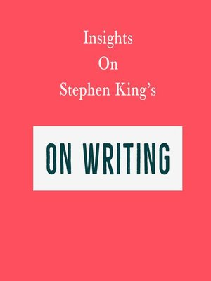 cover image of Insights on Stephen King's On Writing