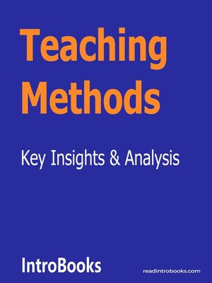 cover image of Teaching Methods