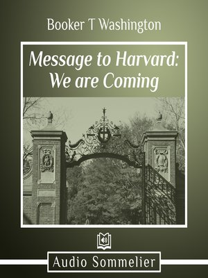 cover image of Message to Harvard