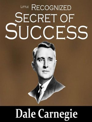 cover image of The Little Recognized Secret of Success
