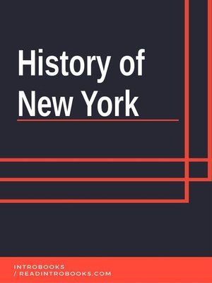 cover image of History of New York