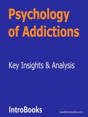 cover image of Psychology of Addictions