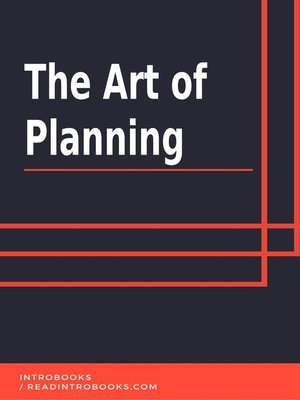 cover image of The Art of Planning