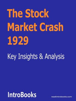 cover image of The Stock Market Crash 1929